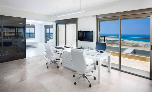 A Rectagular Version Of The Cool Parsons Desk White Formal Home Office Furniture