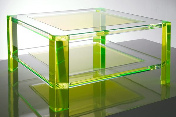 Acrylic Coffee Table In Neon Green Fresh Color Furniture Decor