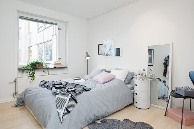 All White Bedroom Bright And Beautiful Scandinavian Design