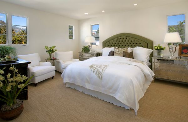 Bedroom With Green Accents Confortable Bedroom Designing
