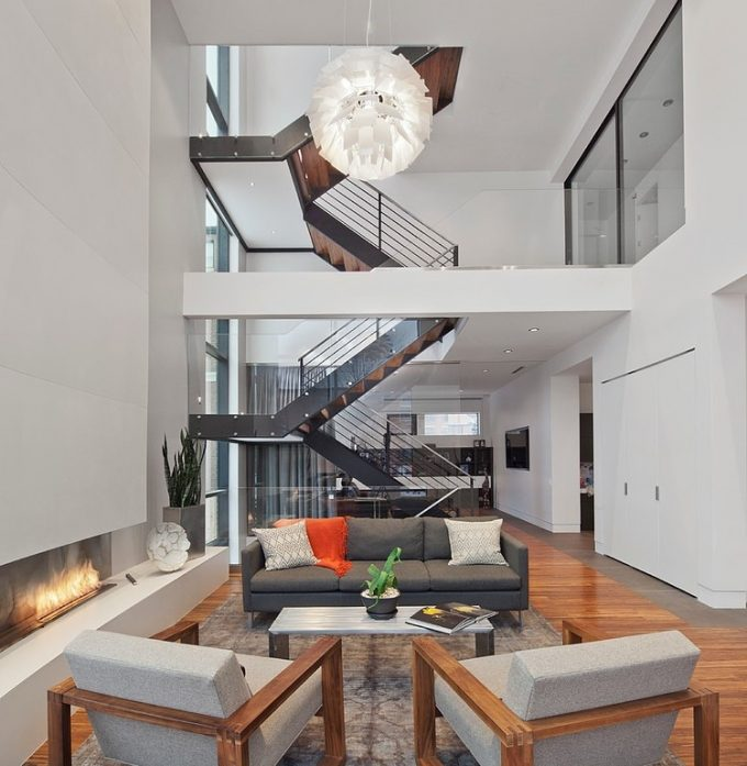 Breezy Environment Design With Large Open Space Ang High Ceiling Design Contemporary House Design