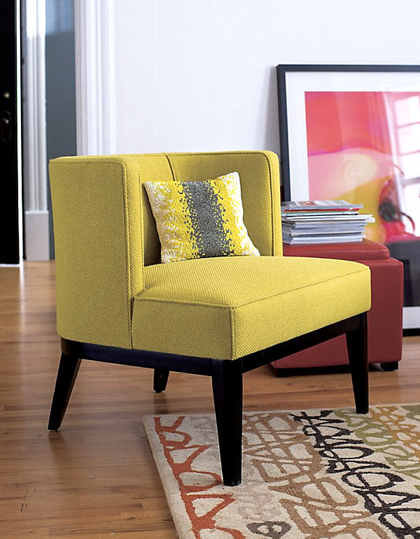 Citron Yellow Chair For Cheerful Room Decor