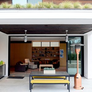 Clean Lined Urban Oasis Simple Terrace With Outdoor Kitchen Countertop