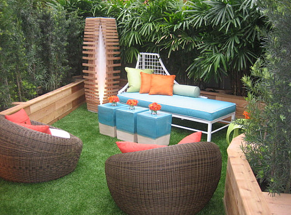 Colorful Seating In A Welcoming Outdoor Space Small Garden Design