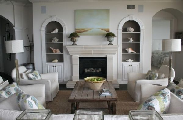 Conch Shells And Starfish Add A Subtle Nautical Touch To This Living Room Simple Sea Room Decor