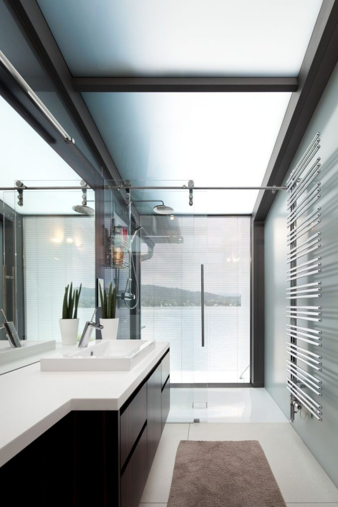 Contemporary Bathroom In White Interior Design Ideas