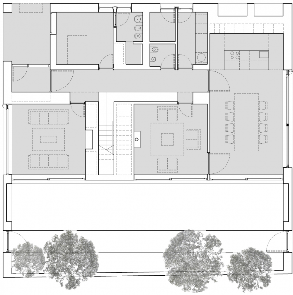 Minimalist Wooden Details as Your Home Inspiration: Details House Plan 70's House Makeover In Dublin