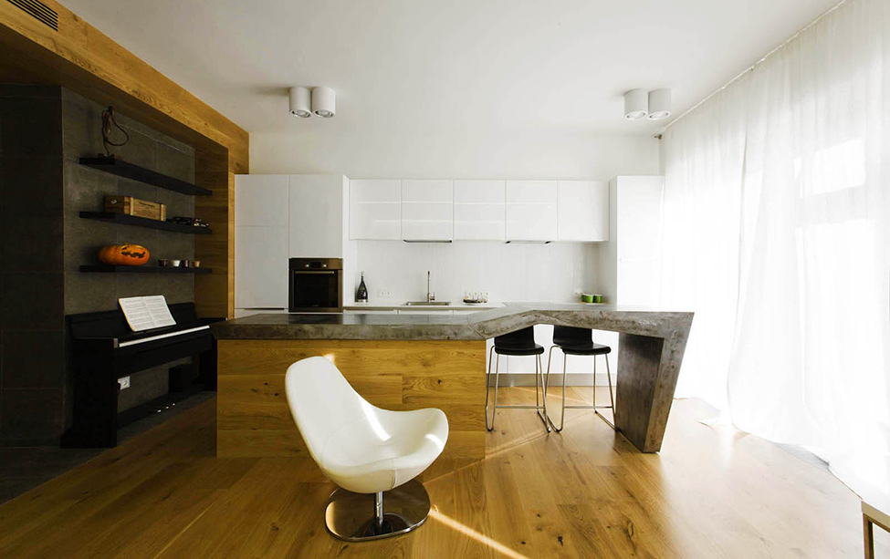 Dubrovka Apartment Interior Detail Of Living Space With Wooden Flooring