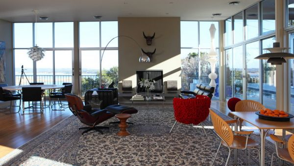Eames Lounge Chair And Ottoman Gives The Arco Company In This Modern Living  Room Living Room Accessories Part 90