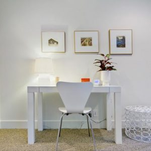 Furniture Round Florence Knoll Table Desk Doubles Up As A Dining