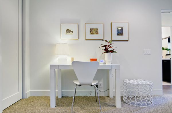 Ensure That You Get The Lighting For Your Home Office Just Right White Small Desk Design