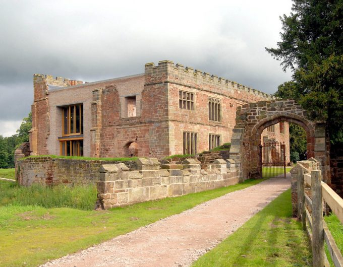 Entranceway To Astley Castle Holiday Home Stone Fence End Restorated Castle Exterior