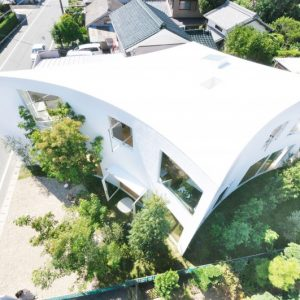 Forest House In The City Top Facade House With Green Vegetated Surrounding Green Hose Design In Tokyo