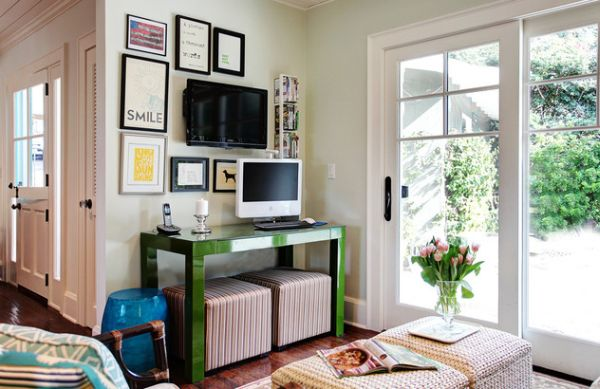 Gorgeous Green Version Of The Sleek Parsons Table Green Color Table Ideas