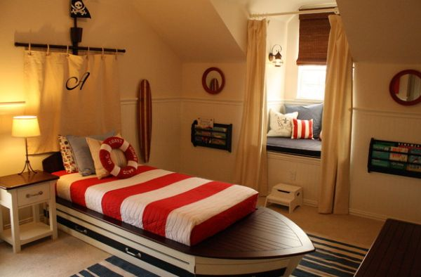 Hard To Miss The Theme And Style In This Fun Kids Bedroom Boat Inspired Bedroom