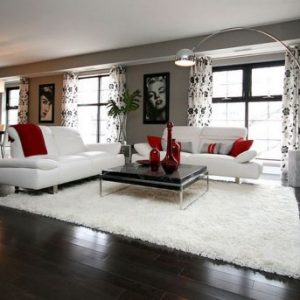 Hollywood Regency Inspired Living Room With Plush Decor Black And White Living Room Design
