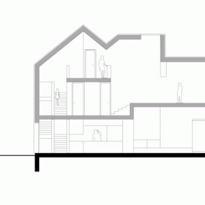 House Section 3 Story House In Minimalist Design