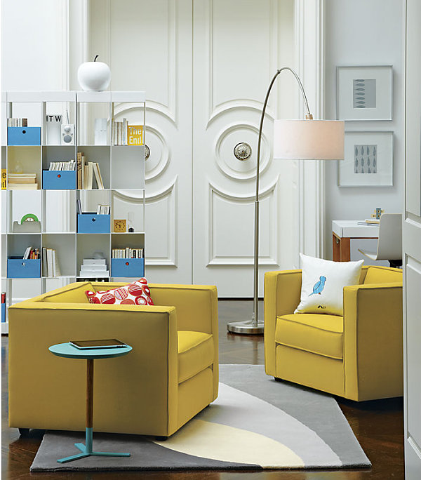 Lemon Yellow Chairs In Modern Living Room Decor