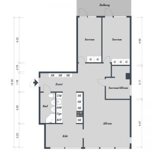 Modern Minimalist Apartment Plan Design