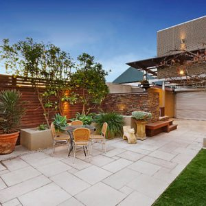 Modern Oudoor Space With Eclectic Style Contemporary Outdoor Patio Design