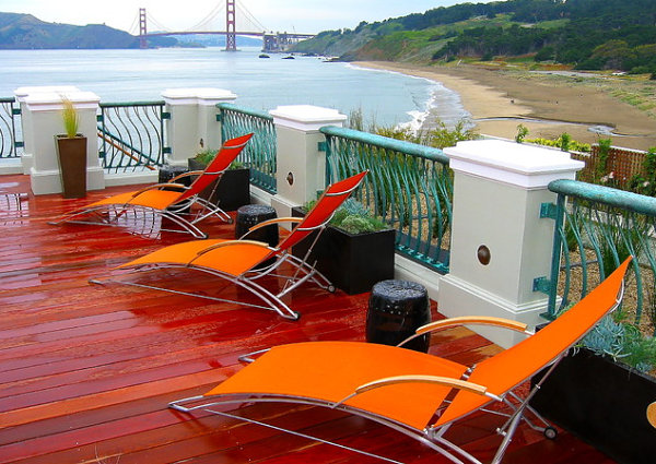 Modern Outdoor Seating In Orange Stylish And Young Furniture
