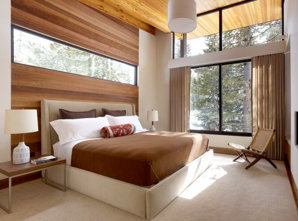 Natural Ventilation Is Good For Positive Chi Confortable Bedroom Concept