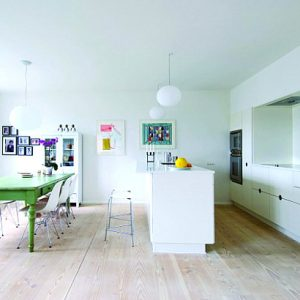 Repainted Green Dining Table For Contemporary Interior Design