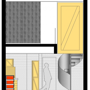 Section Fist Floor And Second Floor Map Design