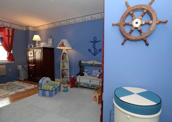 Ship Wheels Are Easy To Incorporate In Pretty Much Any Setting Kid's Sea Bedroom Design