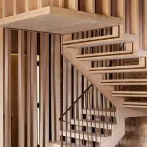 Staircase Design In Astley Castle Artististic Wooden Stair Design