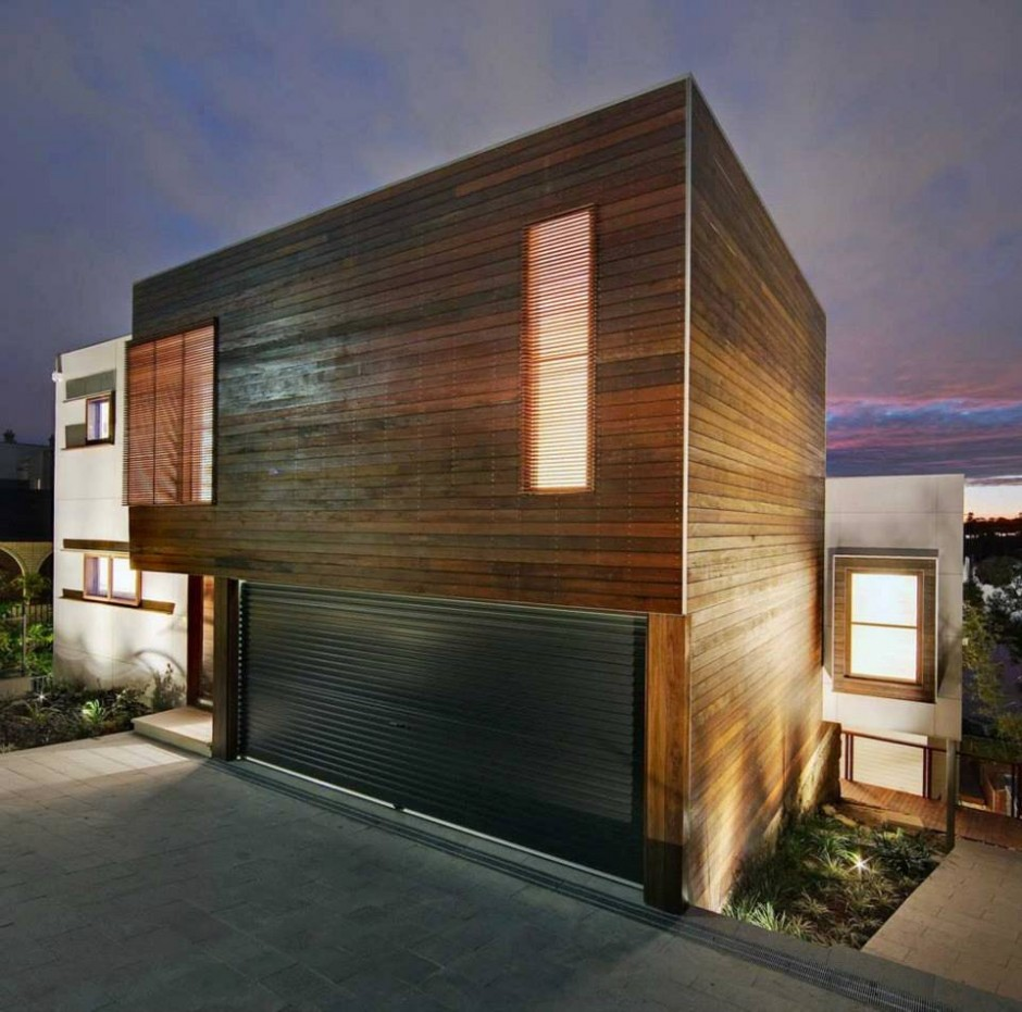 See the Beauty of Sidney Harbour from Multi-Level Home Concept: Tennyson Point Residence Garage And Car Park Design