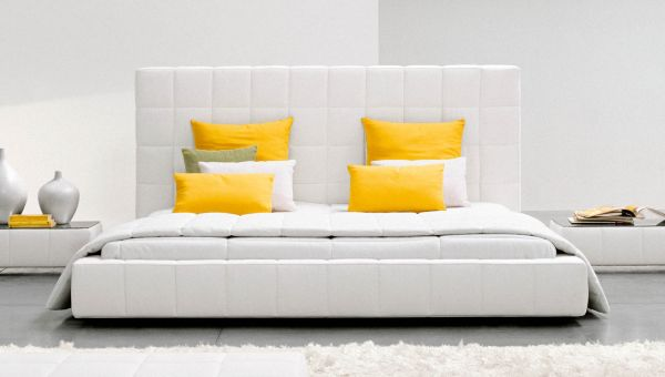 Tufted Comfort Offered By The Chic Squaring Alto Bed Modern Low Bed Design