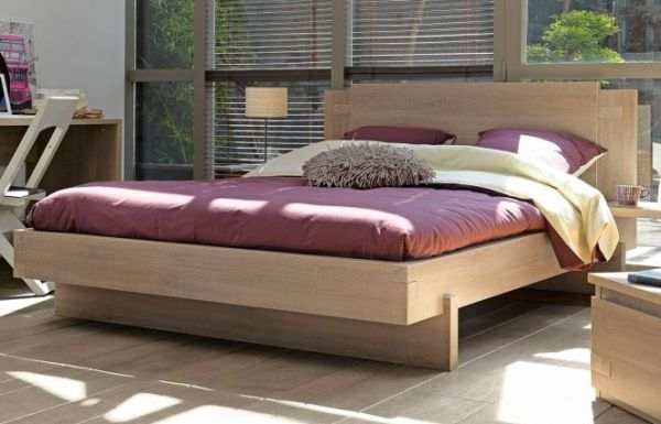 Tweed Collection From Gautier Wooden Bed Design With Red Bedding