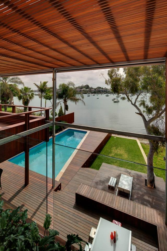 See the Beauty of Sidney Harbour from Multi-Level Home Concept: Upper Swimming Pool And Harbour View