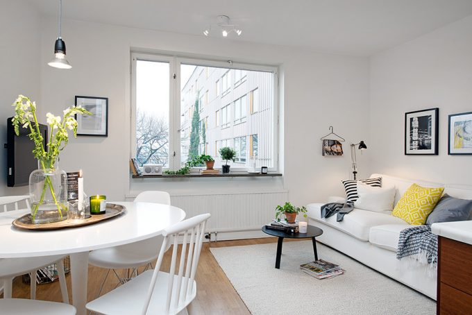White With Personality Scandinavian Style Interior Decor