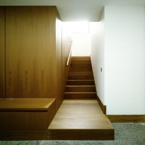Wooden Decor In Stair Wall And Cabinet Room Interior Makeover House Renovation