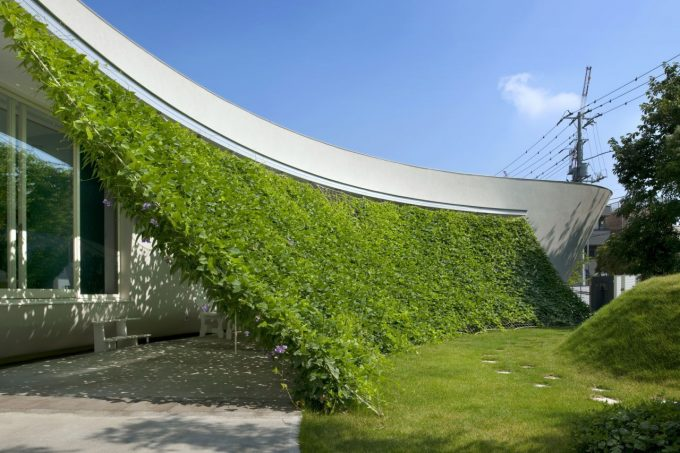 Architecture Green Screen House Modern Eco Friendly House In Japan