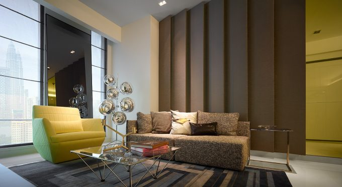 Architecture Residences Blu By Water Studio Vibrant Interior Color Luxury Apartment