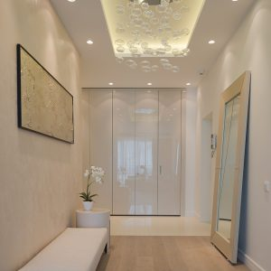Artistic Corridor With Ceiling Decor Ideas