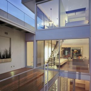 Beautiful Modern 3 Story Residence Design With Sloping Terrain Land