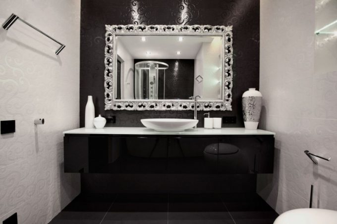 Black And White Bathroom Decor Beautiful Vanity Design