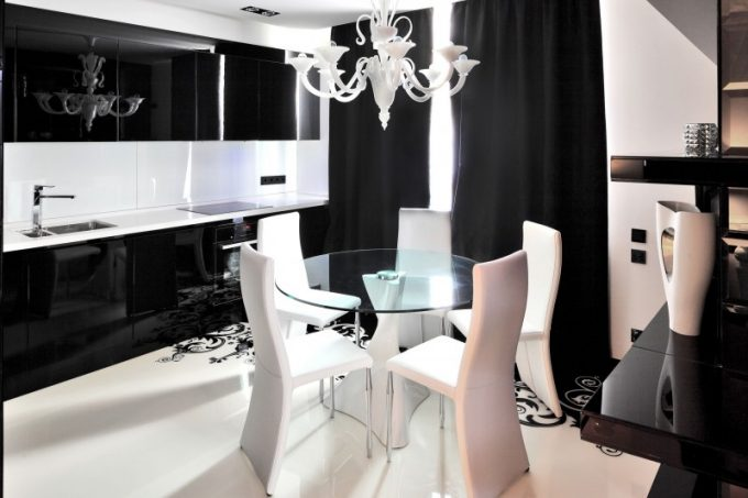 Black And White Home Decor White Dining Furnishing