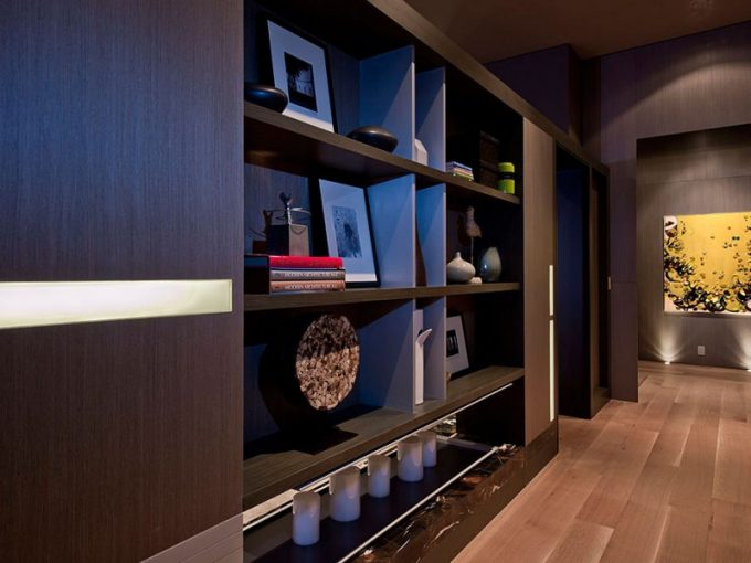 Brown Shelves For Wall Decoration