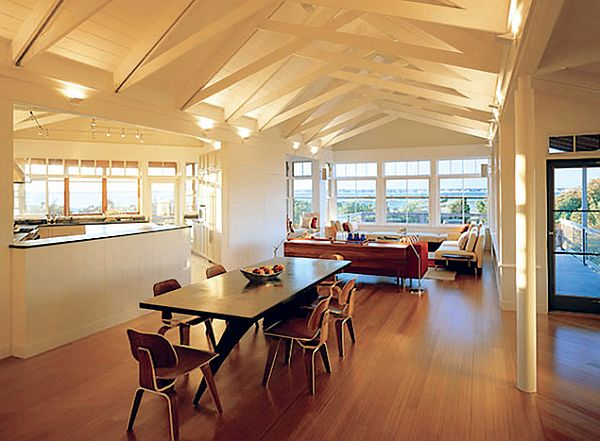 Contemporary Attic Dining Room Table Romantic Dining Space Design