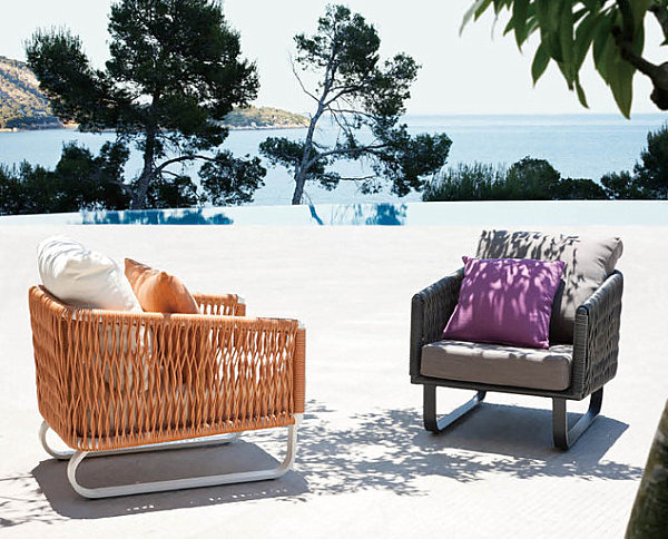 Contemporary Seating In An Outdoor Space With Sea View