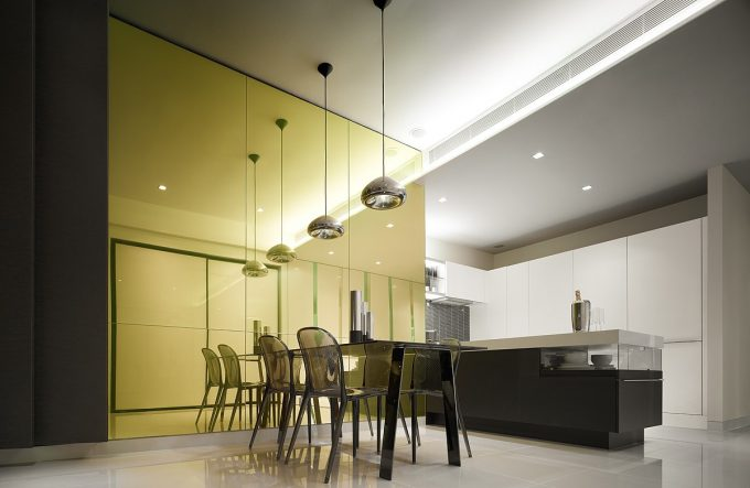 Design Residences Modern Apartment Dining Room And Contemporary Kitchen
