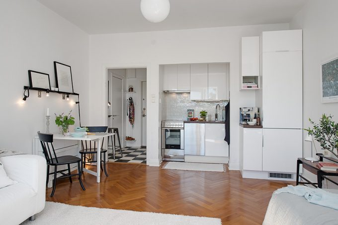 Design Kitchen Small Apartment Smart Interior Arrangement Minimalist Apartment