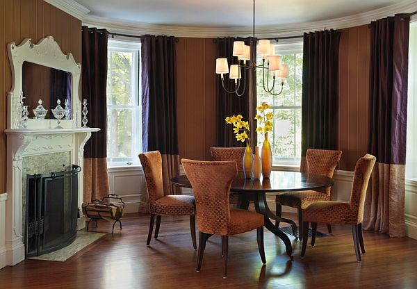 Eclectic Dining Room With Round Table Classic Dining Area Design