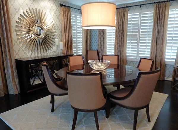 Fancy Round Dining Table Formal Dining Space Decor