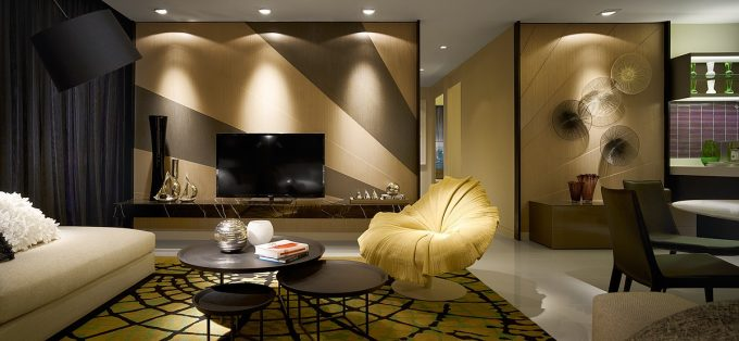Fashionable Interior Residences With Stylish And Elegant Furniture For Contemporary Apartment
